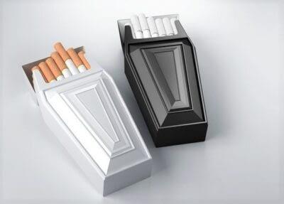 Anti-smoking cigarette packaging