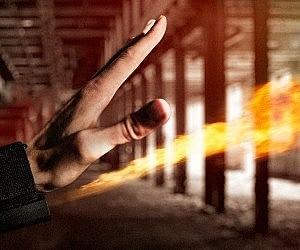 Open Hand Fireball Launcher