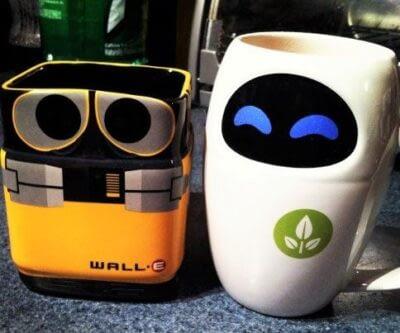 Wall-E And Eve Mug Set