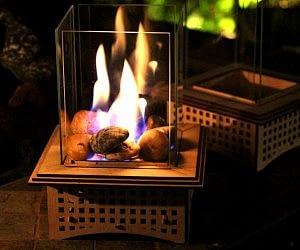 Tabletop Glass Fireplace