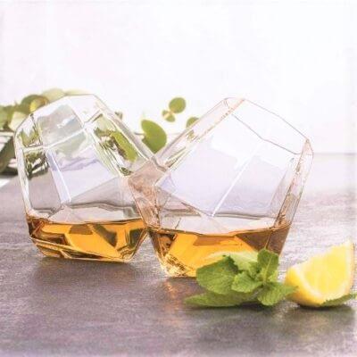 Diamond Shaped Whiskey Glasses Set