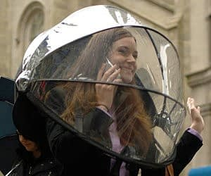 Hands Free Umbrella Dome