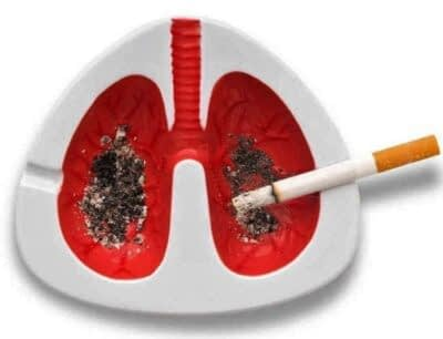 Lung Ashtray with his coughing
