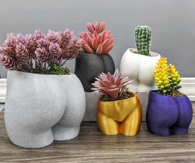 Butt Shaped Pot For Plants